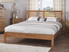 Esther Honey Oak King Size Bed