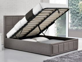 Hannover Fabric Ottoman King Size Bed