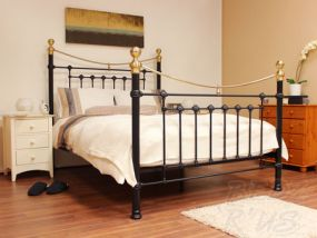 Victoria Black King Size Bed