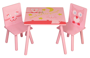 Owl and Pussycat Table and 2 Chairs