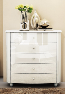 Aztec White 5 Drawer Chest