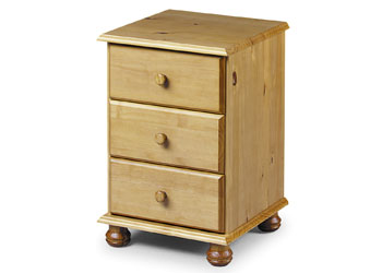Pickwick 3 Drawer Bedside Chest