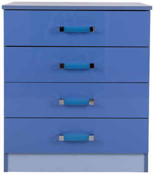 Ottowa Blue 4 Drawer Chest